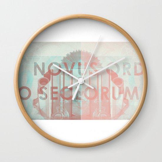 Novus Ordo Seclorum Wall Clock