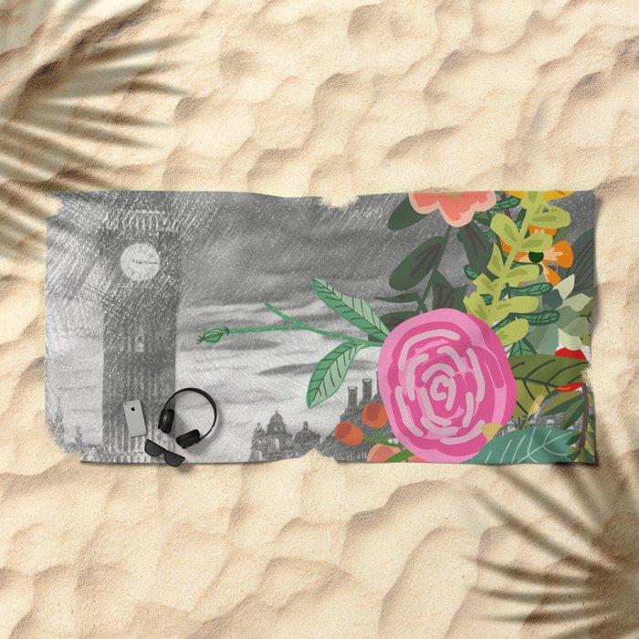 Flowers bouquet #13 Beach Towel
