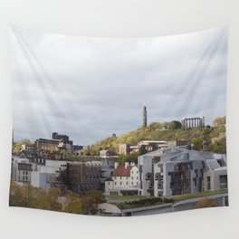 View of Holyrood and Calton Hill Edinburgh Wall Tapestry