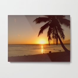 Cook Islands sunset Metal Print