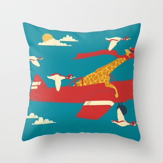 Red Barons Throw Pillow
