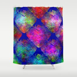 Hearty Strawberries Shower Curtain