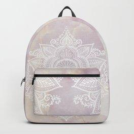 MANDALA ON PINK MARBLE Backpack