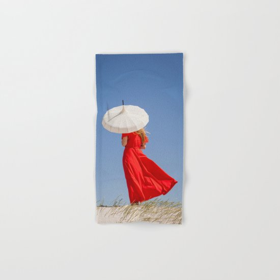 Lady in Red Hand & Bath Towel