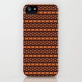 Dividers 02 in Orange Brown over Black iPhone Case