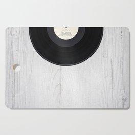 Black vintage vinyl record Cutting Board