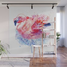 Flamingo on the Water Wall Mural