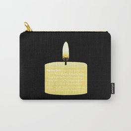 Happy Holidays Candle Carry-All Pouch