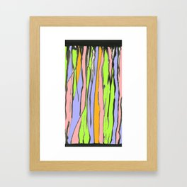 Dripping Dreams-Pink, ink painting, digital Framed Art Print