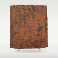 mexico Shower Curtains featuring Mexico Map by Map Map Maps