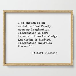 Albert Einstein Quote 08 Serving Tray