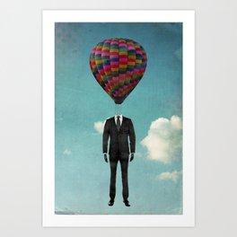 balloon man Art Print