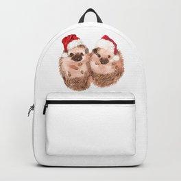 Christmas Twin Hedgehog Backpack