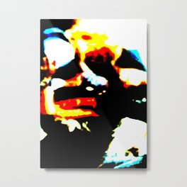 Abstract Head Metal Print