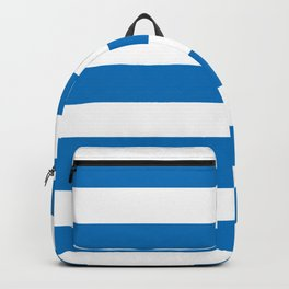 French blue - solid color - white stripes pattern Backpack