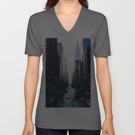 New York City Street Skyscapers Travel Wanderlust #tapestry Unisex V-Ausschnitt