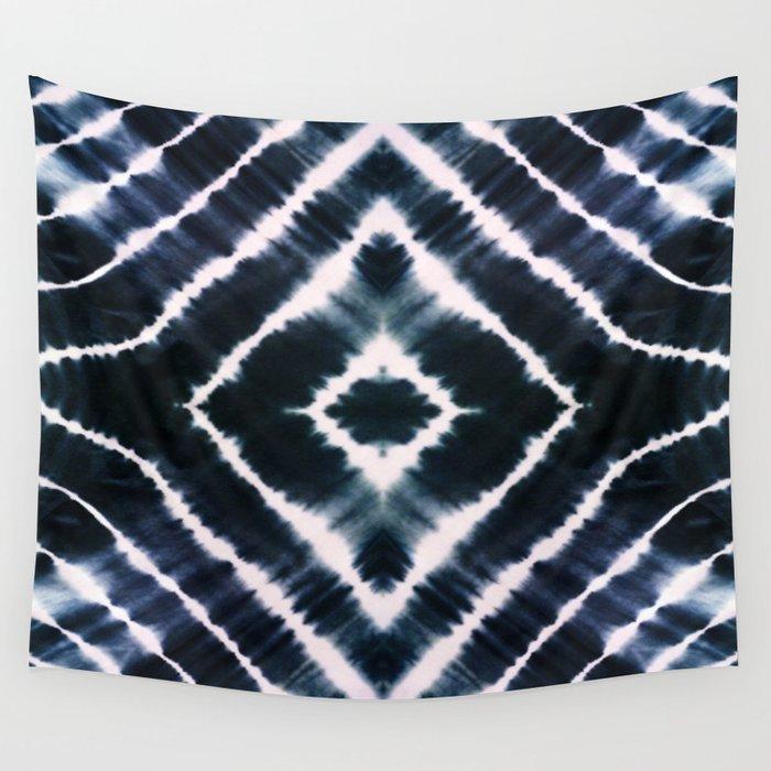 WAKE UP CALL INDIGO Wall Tapestry