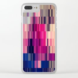 Abstract summer bright square pattern Clear iPhone Case