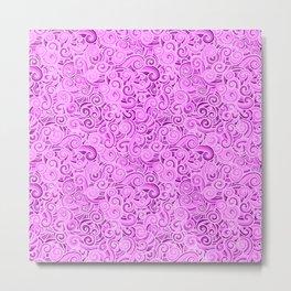 swirl violet Metal Print
