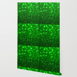 Green glitter and sparkles background Wallpaper