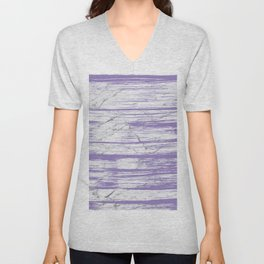 Modern abstract violet watercolor brushstrokes marble pattern Unisex V-Neck