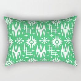 Mid Century Modern Atomic Space Age Pattern Green Rectangular Pillow