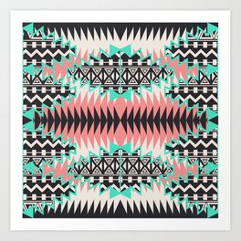 Tribal Beat Geo Pastel Art Print