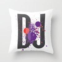 paramore Throw Pillows featuring Art DJ by Sitchko Igor