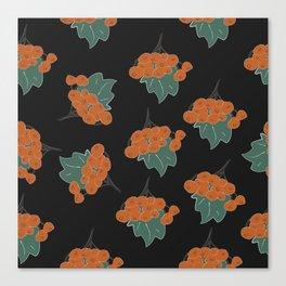 Seamless Pattern of autumn rowan Canvas Print