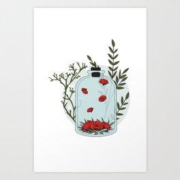 Alchemy Jar - Flowers Art Print