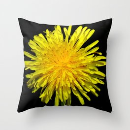 A Dandy Dandelion Throw Pillow