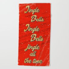 Jingle Bells #1 - A Hell Songbook Edition Beach Towel