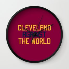 Cleveland Basketball Wall Clock