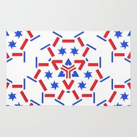 patriotic Area & Throw Rugs featuring Patriotic by Robin Curtiss