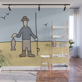 Beavid and Butthead Fisherman picture Wall Mural