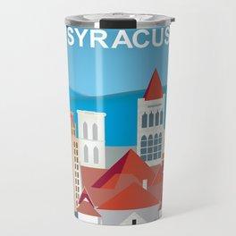 Syracuse, New York - Skyline Illustration by Loose Petals Travel Mug