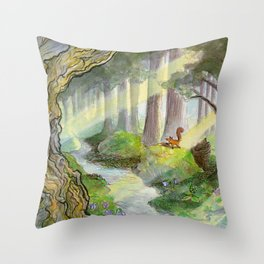 Forest of Ithilien Throw Pillow