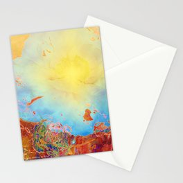 Abstract Peony Stationery Cards