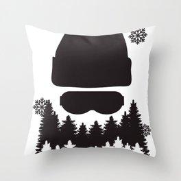 Men's Beard Smooth T-shirt Outdoors Tee Throw Pillow