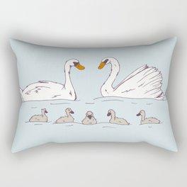 Seven Swans-a-Swimming Rectangular Pillow