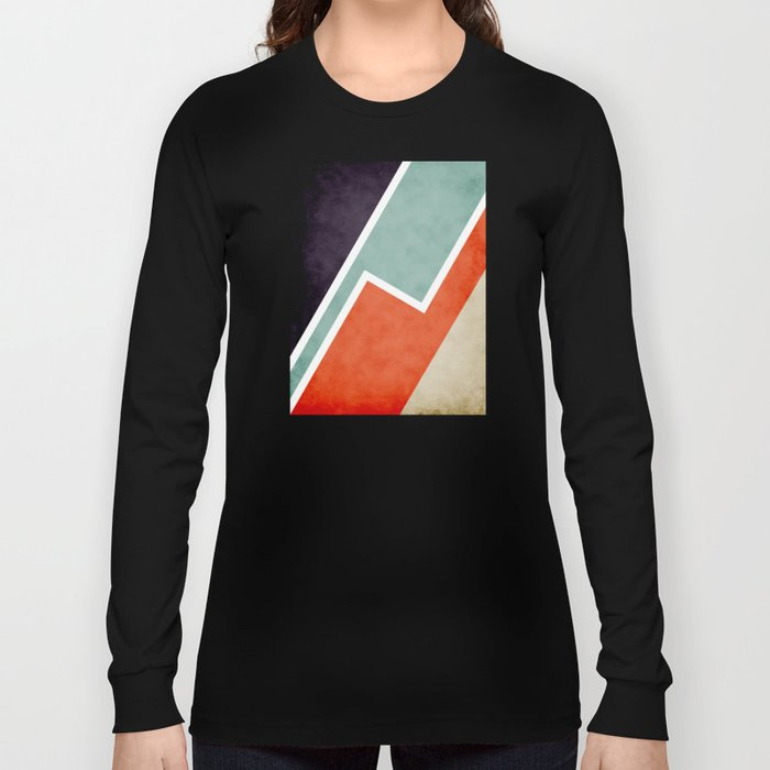 Colorful Textural Abstract Graphic Long Sleeve T-shirt