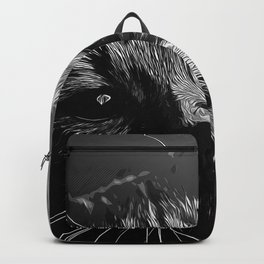 set your cat free vector art black white Backpack