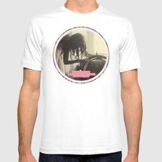 The World is a book and those who don't travel read only a Page SMALL Mens Fitted Tee White