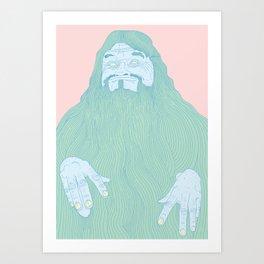 Big Bushy Beard Art Print