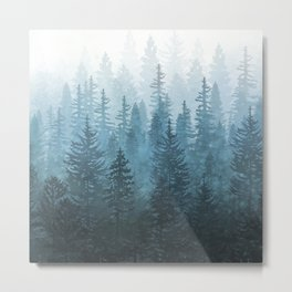 My Misty Secret Forest Metal Print