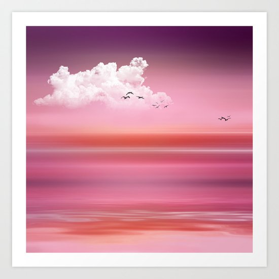 FROM DUSK TO DAWN pink Art Print