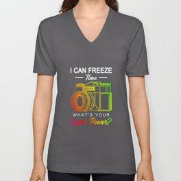 Freeze Time Photography Gift Unisex V-Neck