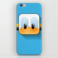 donald duck iPhone & iPod Skins featuring donald duck by designoMatt