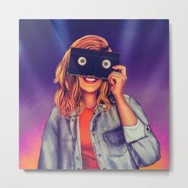 VHS Vision Metal Print