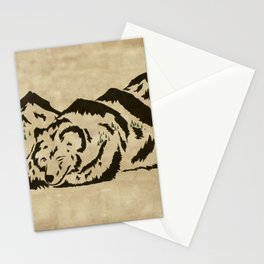 Sleepy Bear Mountain Stationery Cards